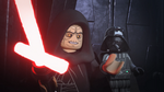 Palpatine impressed by Kylo's lightsaber - The LEGO Star Wars Holiday Special