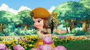 Sofia picking flowers