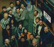 James Woods and animation crew