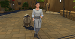 The Sims 4 Star Wars Journey to Batuu - Rey and Kylo's daughter with droid