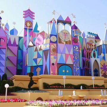 Disneyland Park Guide Map Christmas 2017 Small World Ride.