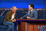 MIchael Keaton visits Stephen Colbert