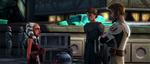 R2-D2 Anakin and Obi-Wan meet Ahsoka