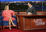 Amy Sedaris visits Stephen Colbert