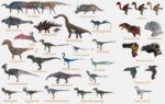 25 species concept art for Disney Dinosaur