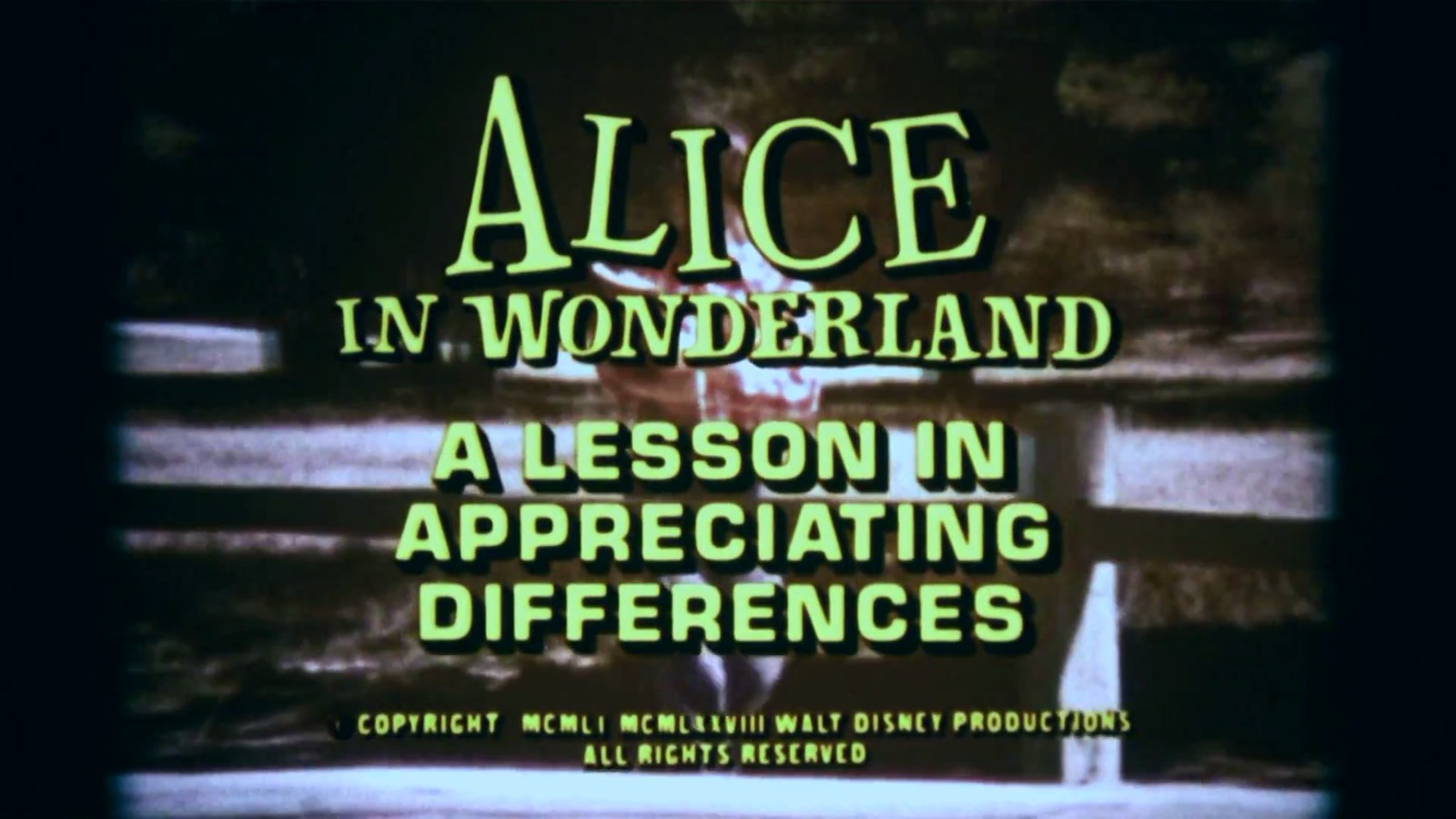 Alice in Wonderland: A Lesson in Appreciating Differences