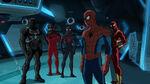Ultimate Spider-Man - 4x05 - Lizards - Agent Venom, Scarlet Spider- Miles Morales, Spider-Man and Iron Spider
