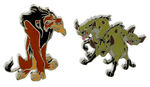 Scar and hyena pins
