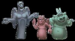 Víctor, Hugo y Laverne en Kingdom Hearts 3D: Dream Drop Distance