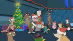 Carl gives a Secret Santa present