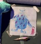 Dibujo de Boo y Sulley