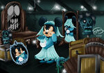 Minnie Mouse as Constance with Mickey Mouse as George