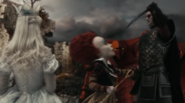 Stayne attempts to eliminate red queen