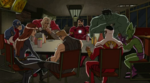 Vengadores-HombreImposible restaurante shawarma
