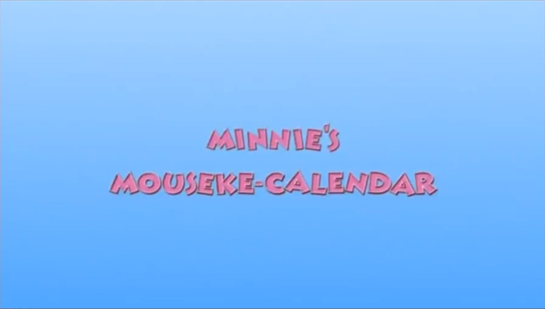 Minnie's Mouseke-Calendar