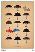 Rct332 blue umbrella poster