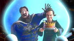 Gerylock stealing the crown from King Magnus