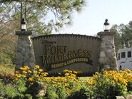 Disney's Fort Wilderness Resort and Campground sign