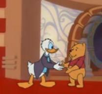 Donald saluda Pooh