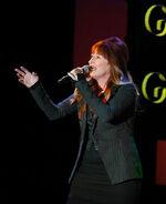 Vicki Lewis performs at Sardi's