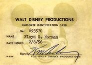 Floyd Norman ID card