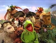 Kermit and the crew from Muppet Treasure Island