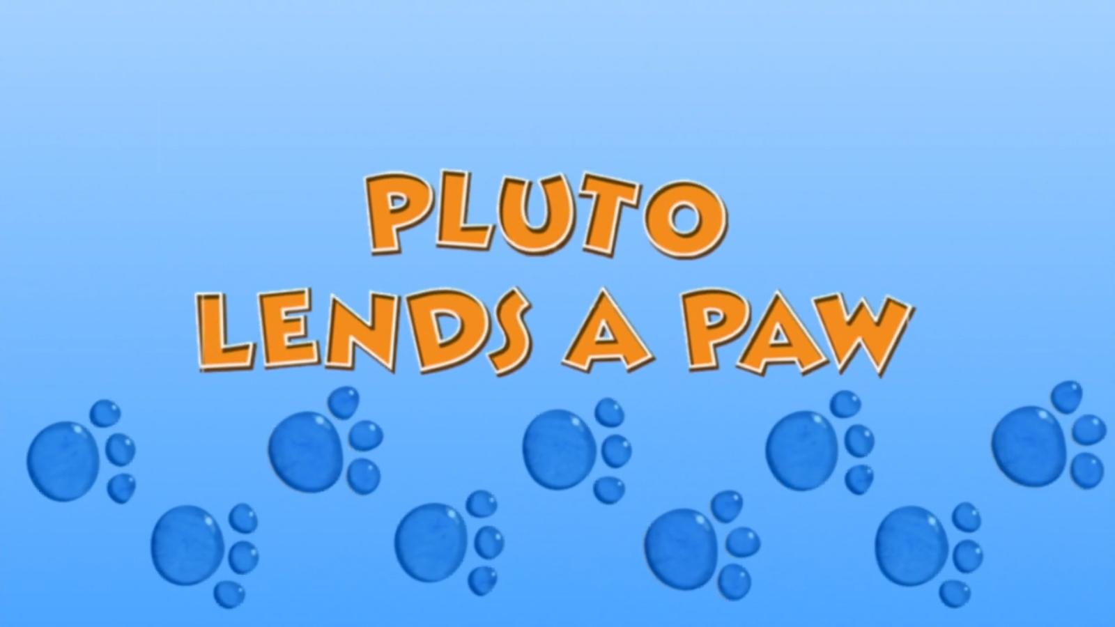 Pluto Lends a Paw