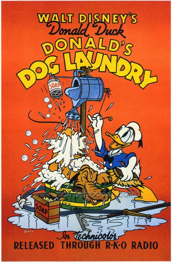 Paperino e il lavaggio per cani