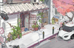 Lucky Cat cafe concept