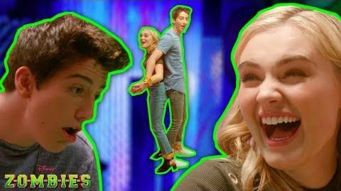 Tied Together Rope Challenge! 👫 ZOMBIES Disney Channel