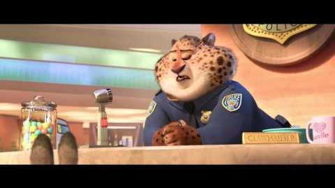 """""""Meet Clawhauser"""" Clip - Zootopia"""