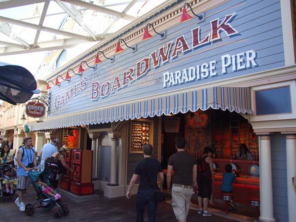 Games of Pixar Pier