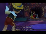 KH - Pinocchio runs off