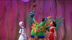 Grand Macaw settles Elena and Ash an Oleball game