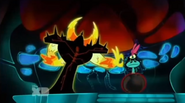 Lord dominator about to flick Sylvia away