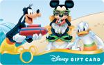 Mickey Goofy Donald 2014 Summer Disney Gift Card