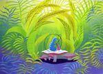 Disney's Alice in Wonderland - Caterpillar Concept Art by Mary Blair - 1