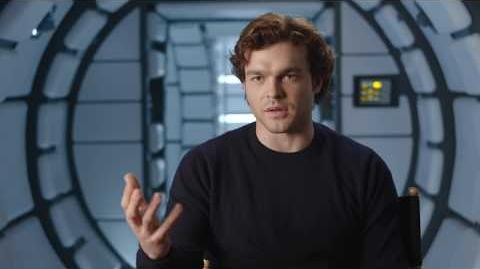 "SOLO Behind The Scenes ""Han Solo"" Alden Ehrenreich Interview - A Star Wars Story"