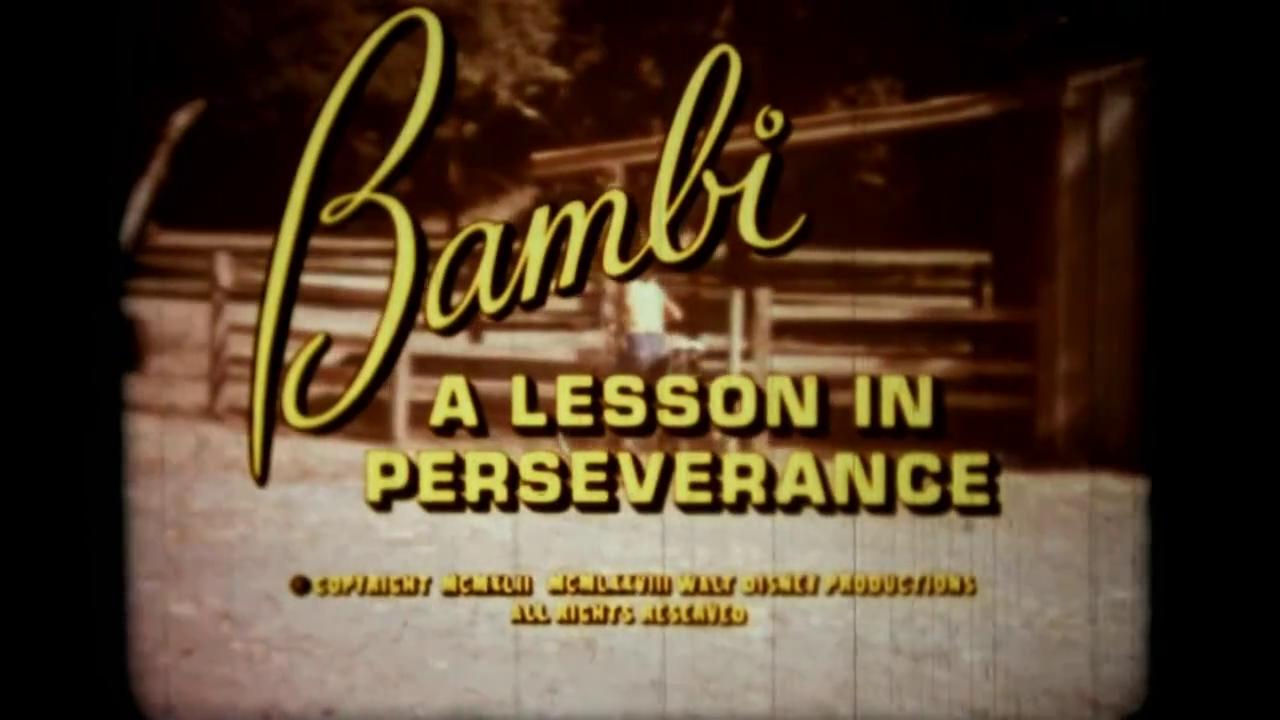 Bambi: A Lesson in Perseverance
