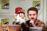 Alex Hirsch with Grunkle Stan Puppet