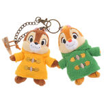 Chip & Dale coat keyholder keychain with stuffed toy