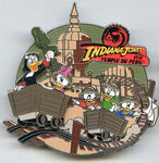 DLP - Pin Trading Event - Indiana Jones and the Temple of Doom Event - Magica De Spell with Huey, Dewey, Louis & Webby