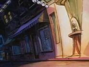 Goof Troop - Spoonerville Movie Theater - Exterior Detail