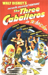 Three caballeros poster