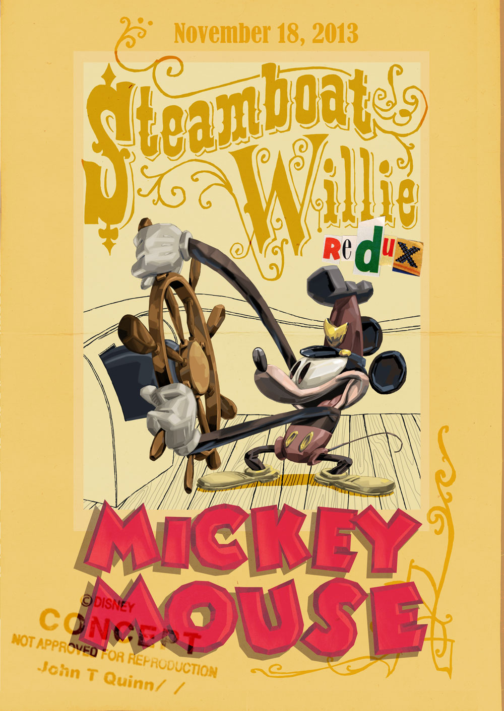 Steamboat Willie Redux