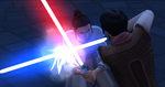 The Sims 4 Star Wars Journey to Batuu - Rey and Kylo's children duel