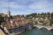 Houses-banks-Aare-River-Switzerland-Bern