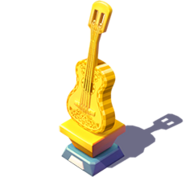 D-coco gold trophy