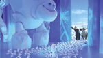Die Schneechen kommen in Elsas Eispalast an