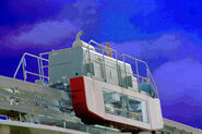 Maintenance Tractor, Disneyland® Monorail System, Anaheim, California, enhanced